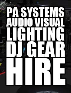 PA System Audio Visual DJ Equipment Hire Sydney